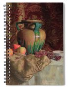 Large Vase With Apples Spiral Notebook