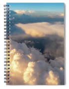 Large White Cloud From Passanger Airplace Window At Sunset Spiral Notebook