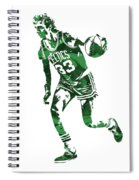 Larry Bird Boston Celtics Pixel Art 10 Spiral Notebook
