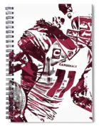 Larry Fitzgerald Arizona Cardinals Pixel Art 1 Spiral Notebook