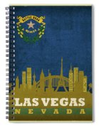 Las Vegas City Skyline State Flag Of Nevada Art Poster Series 018 Spiral Notebook