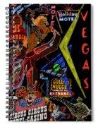 Las Vegas Neon Spiral Notebook