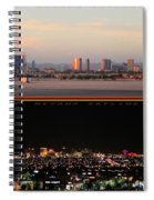 Las Vegas Skyline At Dawn And At Night Spiral Notebook