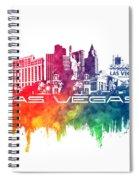 Las Vegas Skyline City Color Spiral Notebook