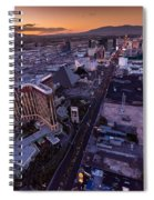 Las Vegas Strip Aloft Spiral Notebook