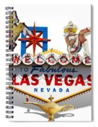 Las Vegas Symbolic Sign On White Spiral Notebook