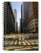 Lasalle Street Commuter Action Spiral Notebook