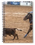 Lassoing The Calf Spiral Notebook