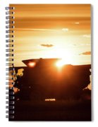 Last Bit Of Sun Spiral Notebook