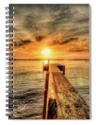 Last Call At Sunset Dock Spiral Notebook