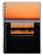 Last Glow Over The Water Spiral Notebook