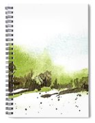 Last Green Of The Season Spiral Notebook