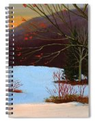 Last Light Of Day Spiral Notebook