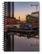 Last Light On Gas Street Basin Spiral Notebook