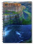 Last Light On Palouse Falls Spiral Notebook