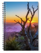 Last Light On The South Rim Spiral Notebook