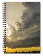 Last Nebraska Supercell Of The Summer 024 Spiral Notebook
