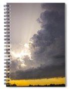 Last Nebraska Supercell Of The Summer 030 Spiral Notebook