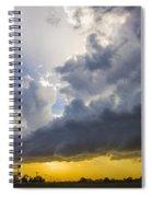 Last Nebraska Supercell Of The Summer 043 Spiral Notebook