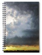 Last Nebraska Supercell Of The Summer 045 Spiral Notebook