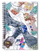 Last Snowman Of The Season Spiral Notebook