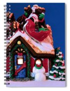 Last Stop For Santa Spiral Notebook