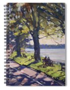 Late Afternoon At Niawanda Park Spiral Notebook