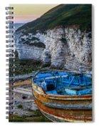 Late Evening North Landing Flamborough Spiral Notebook