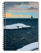 Late Fall At Sea Spiral Notebook