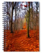 Late Fall In The Woods Spiral Notebook