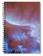 Late Night Nebraska Shelf Cloud 007 Spiral Notebook
