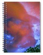 Late Night Nebraska Shelf Cloud 010 Spiral Notebook
