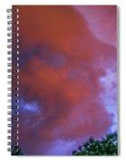 Late Night Nebraska Shelf Cloud 011 Spiral Notebook