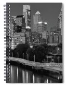 Late Night Philly Grayscale Spiral Notebook