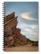 Late On Vasquez Rocks By Mike-hope Spiral Notebook