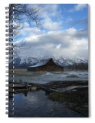 Late Snow On South Moulton Barn Spiral Notebook
