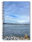 Later Winter Ice 3 Spiral Notebook