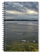 Later Winter Ice Spiral Notebook