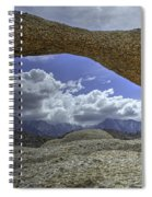 Lathe Arch Between Storms Spiral Notebook