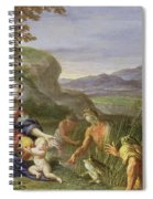 Latona And The Frogs Spiral Notebook
