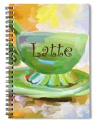 Latte Coffee Cup Spiral Notebook