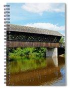 Lattice Covered Bridge Spiral Notebook