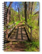 Lattice Shadows Spiral Notebook
