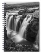 Laugafell Mountain Lodge Waterfalls 3155 Spiral Notebook