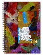 Laugh Play Love Spiral Notebook