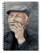 Laughing Old Man Spiral Notebook