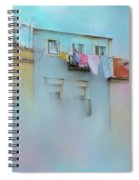 Laundry Day Blues Spiral Notebook