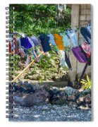 Laundry Drying In The Wind Spiral Notebook