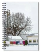 Laundry Drying In Winter Spiral Notebook