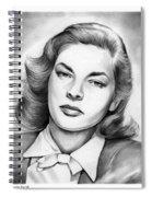Lauren Bacall Spiral Notebook